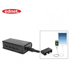 EDNET CHARGING STATION USB ΜΑΥΡΟ