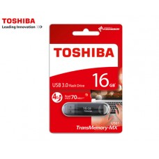 TOSHIBA FLASH DRIVE USB 3.0 16GB SUZAKU ΜΑΥΡΟ