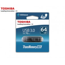 TOSHIBA FLASH DRIVE USB 3.0 64GB SUZAKU ΜΑΥΡΟ