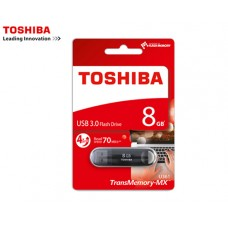 TOSHIBA FLASH DRIVE USB 3.0 8GB SUZAKU ΜΑΥΡΟ